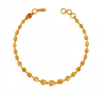 22K Gold Ladies Bracelet - BrLa19129 - 22k Gold Ladies Bracelet .