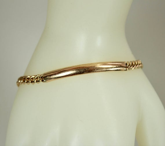 Vintage 18K Rose Gold Ladies Bracelet 6.25 Length x | Et