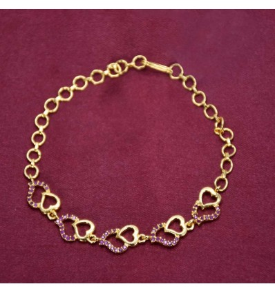 Heart Design Synthetic Stones Ladies Bracelet Buy Online|Kollamsupre