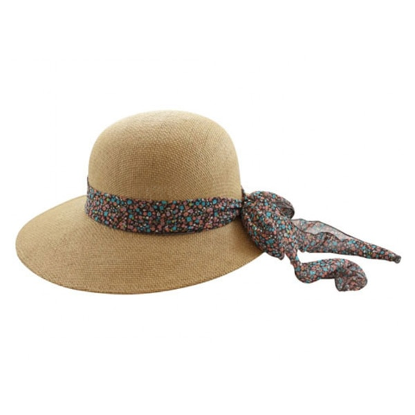 California Hat Company | Ladies Straw Hat with Flower Ribbon .