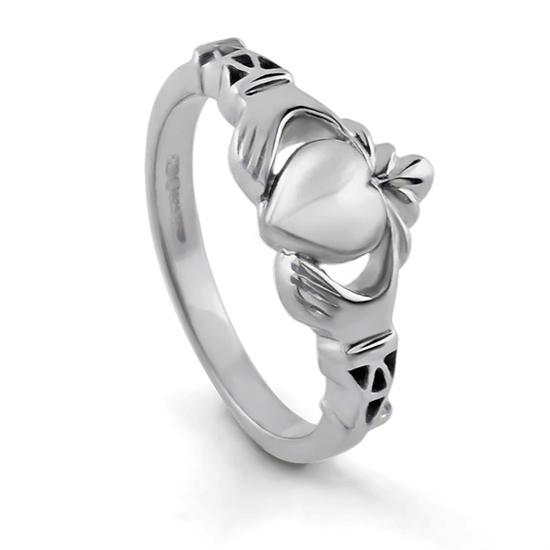 Ladies Silver Claddagh Ring LS-BCLAD107-MEDI