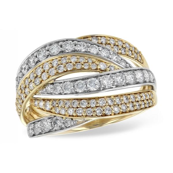 Allison Kaufman 14KT Gold Ladies Wedding Ring M216-44947-T .
