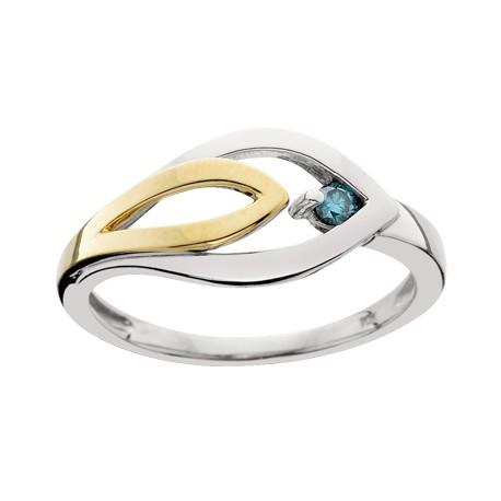 Blue Diamond Ladies Ring - Francis Jewele