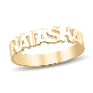 Ladies' Block Name Ring (1 Name) | Ladies Rings | Rings | Piercing .