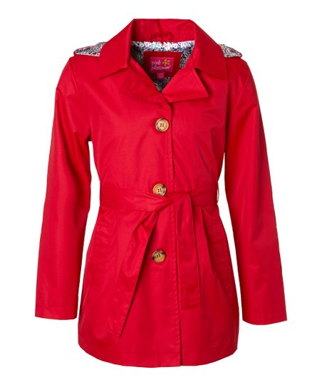 Tango Red Trench Coat - Girls | Zuli