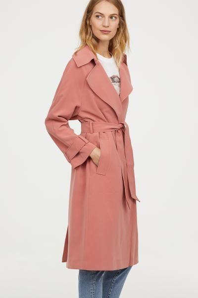 Trenchcoat | H&m, Pink ladies, Tren