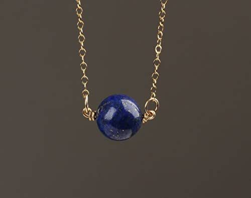 Amazon.com: Lapis Lazuli Necklace - September Birthstone - Royal .