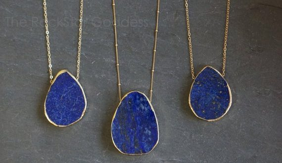 Gold Lapis Lazuli Necklace / Lapis Lazuli Necklace / Blue | Et