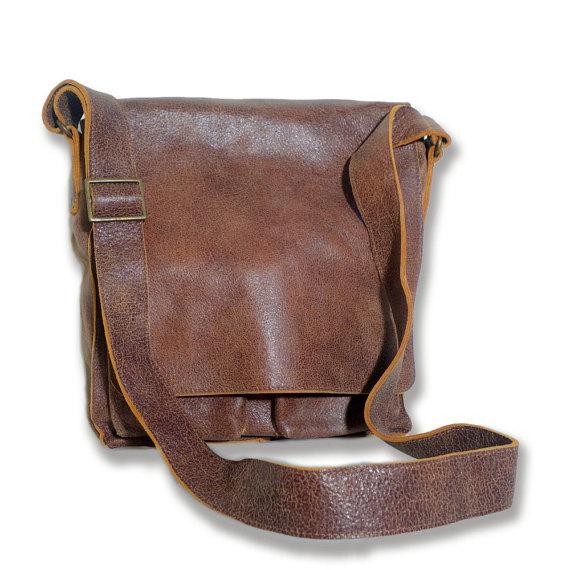 Leather Messenger Bag, Messenger Bag Men, Handmade Bags, Brown .
