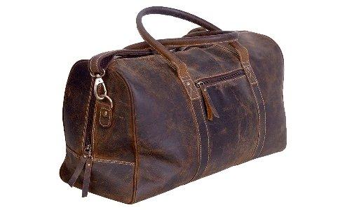 Hunter Leather Duffle Bag Travel Luggage Men Vintage S Duffel .