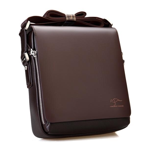 Men handbag business man Bag Shoulder Satchel Kangaroo Leather .