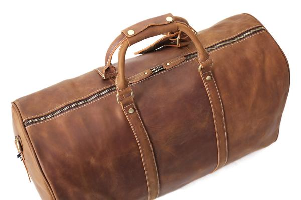 RockCow Vintage Leather Duffle Bag, Mens Travel Bag, Gym Bags for .