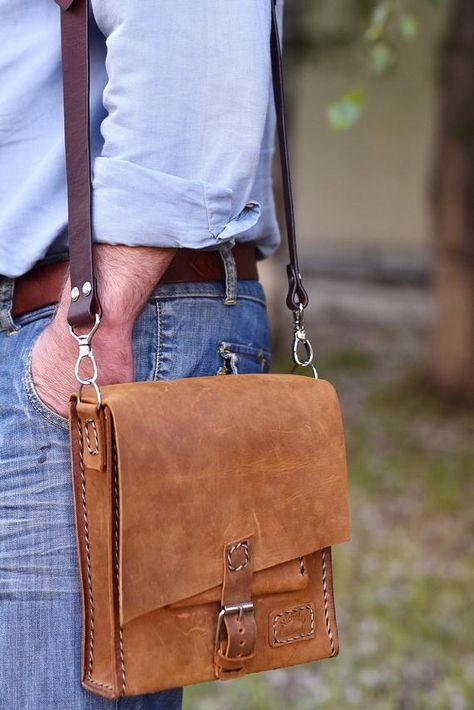 Leather bag Men, Shoulder bag Leather, leather bag for Man .