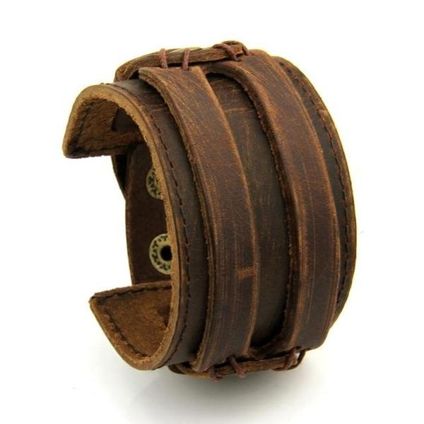 Wide Leather Cuff Bracelet - Get Now and Save 30% – Jewelri