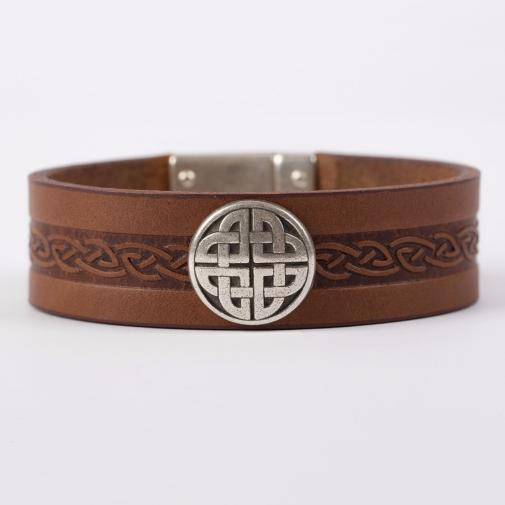 The Craig Leather Cuff Bracelet from The Irish Sto