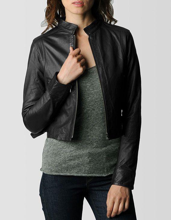 Handmade women SHORT leather jacket women by customdesignmaster .