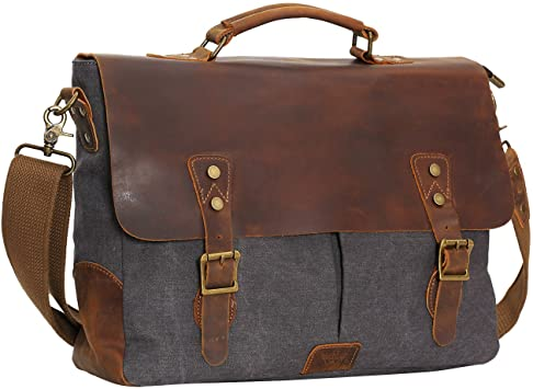 Amazon.com: WOWBOX 15.6 Inch Messenger Bag for Mens Vintage Canvas .