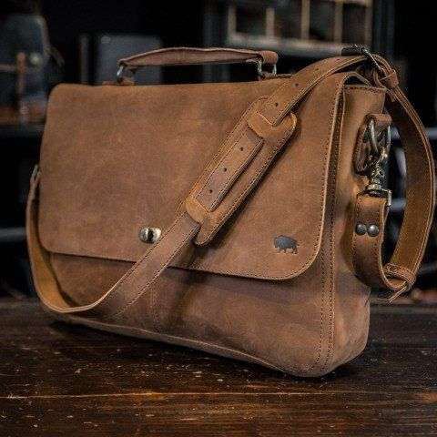 Denver Leather Messenger Bag - Sienna Brown | Leather messenger .