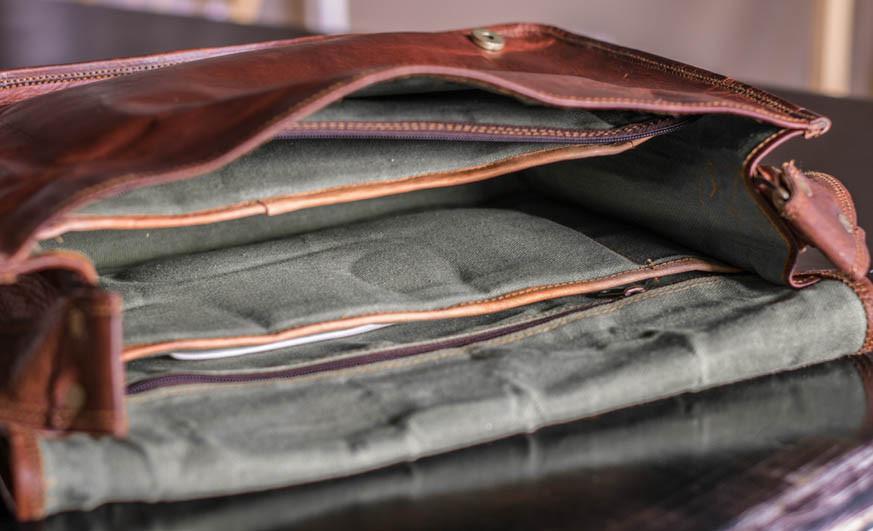 "Men's Leather Messenger Bag 15"" | High On Leath"