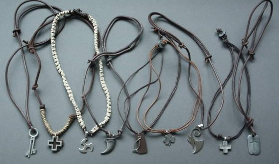Sell mens leather necklace, leather necklace with clasps, leather .
