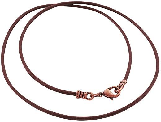 Amazon.com: DragonWeave Antique Copper 1.8mm Fine Brown Leather .
