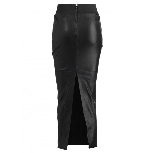 Acacia Leather Pencil Skirt in Bla