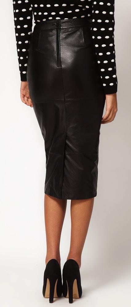 Elizabeth Olsen Wears Topshop Petite Blazer and Asos Leather .