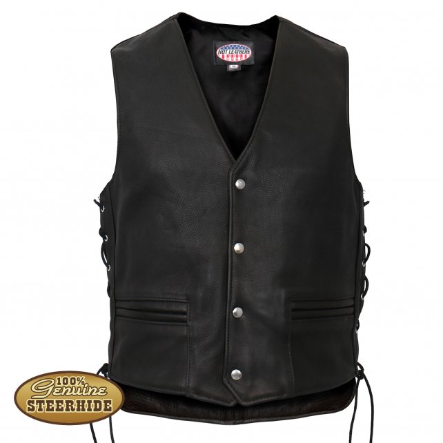 Hot Leathers Men's USA Made Extra Long Back Premium Steerhide .
