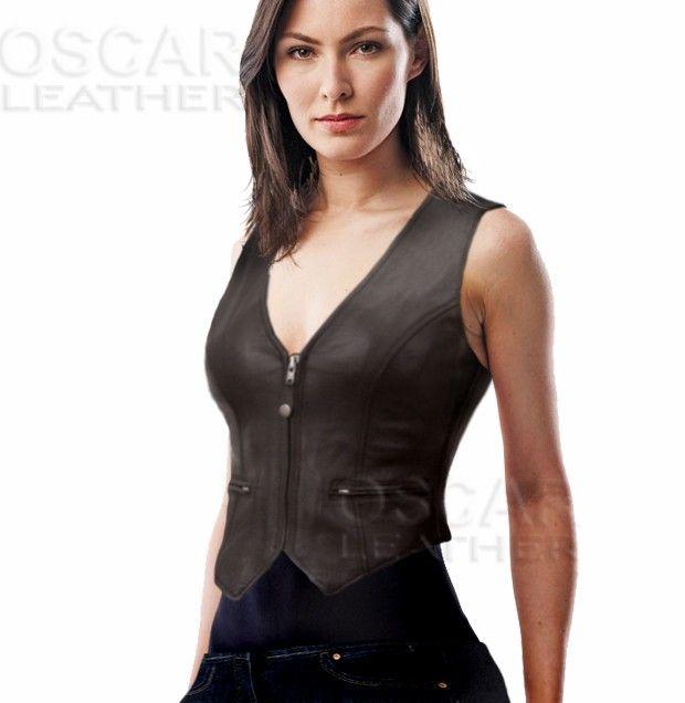 Ladies Fashion Leather Vest | Tour women vest | Fashion, Vest desig