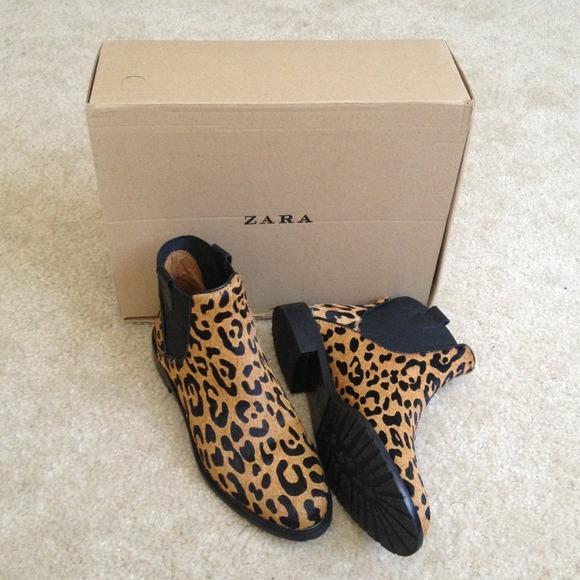 Zara Shoes | Leopard Chelsea Boots | Poshma