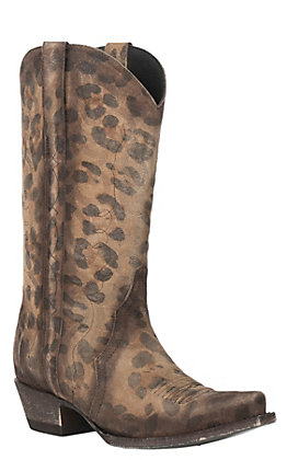 Cavender's by Old Gringo Women's Honey Leopard Print Triad Snip .