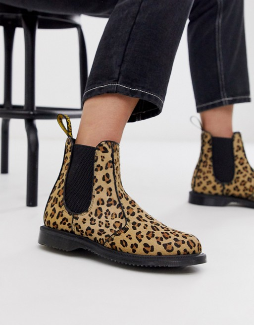 Dr Martens Flora chelsea boots in leopard | AS