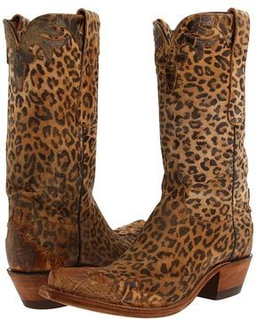 Lucchese N8995 - Leopard Cowboy Boots | Boots, Zappos sho