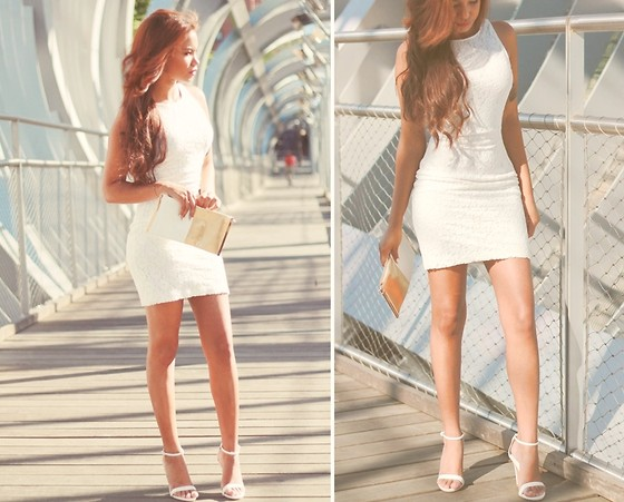 Anayeli Acosta - Zara Dress, Zara Shoes, Blanco Bag - Little white .