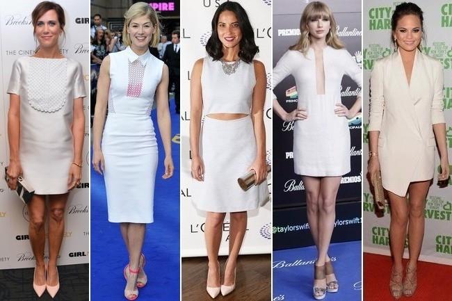 Celebs Heart the Little White Dress - StyleBist