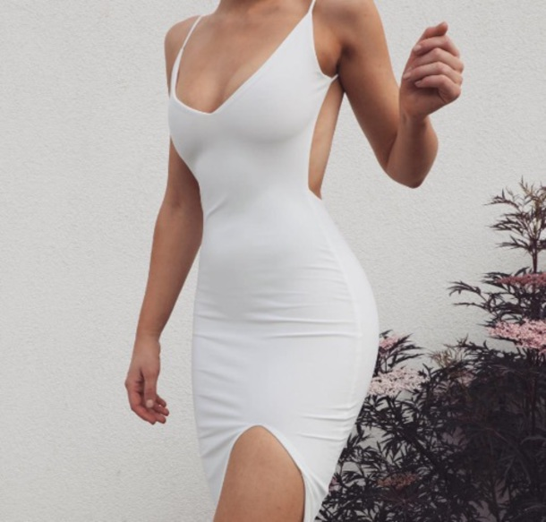 dress, white, white dress, bodycon, bodycon dress, little white .