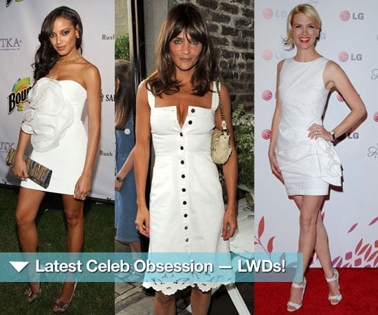 Celebrities in Little White Dresses | POPSUGAR Fashi