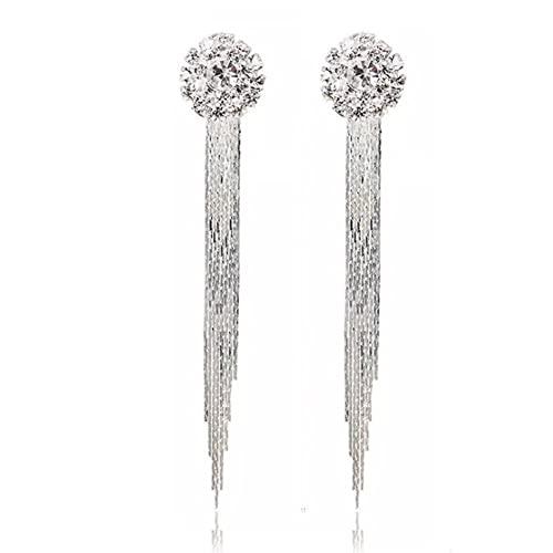 Long Diamond Earrings: Amazon.c