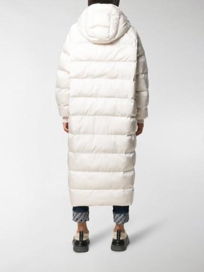 Stella McCartney long puffer coat white Polyamide | MOD