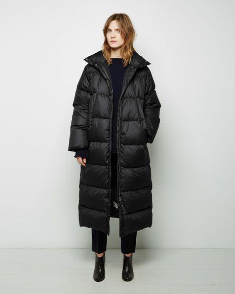 Long Puffer Coat - IT 40 / Black | Long puffer coat, Winter .