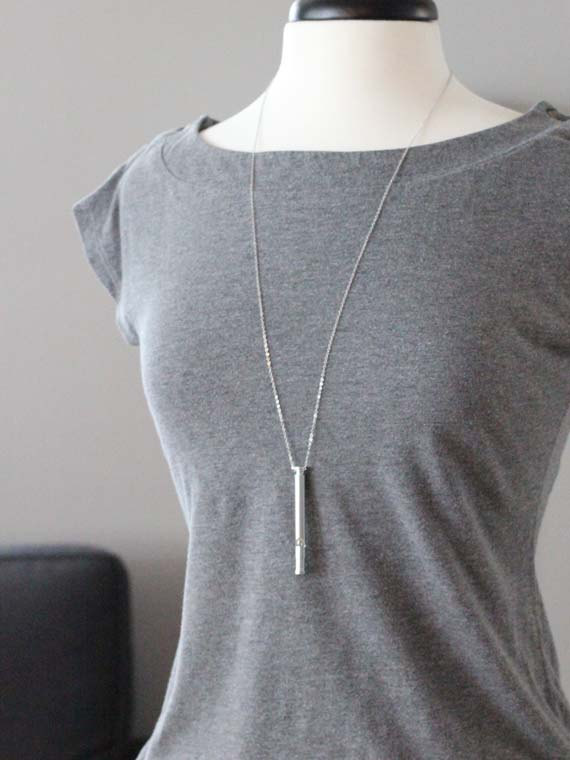 Long Silver Whistle Necklace | Long Layering Necklaces | Jungh