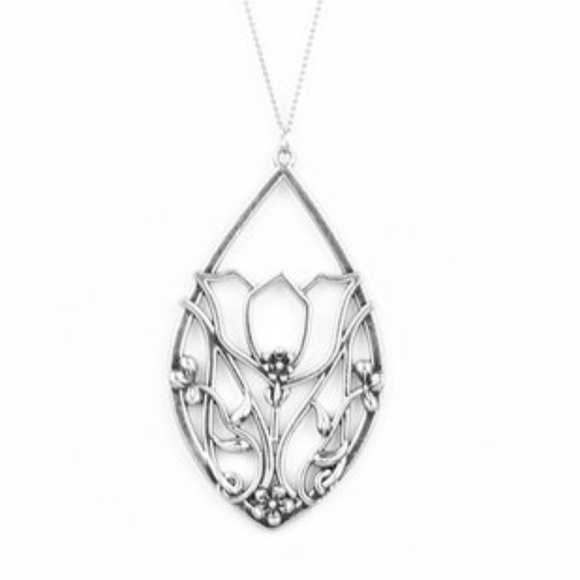 paparazzi Jewelry | Long Silver Necklace Set | Poshma