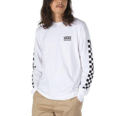 Checkered Vee Long Sleeve T-Shirt | Shop Mens T-Shirts At Va