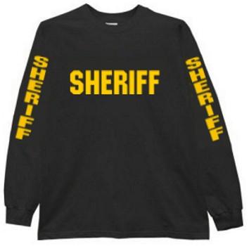 Sheriff Long Sleeve Raid T-Shirt - Teamlogo.com | Custom Imprint .