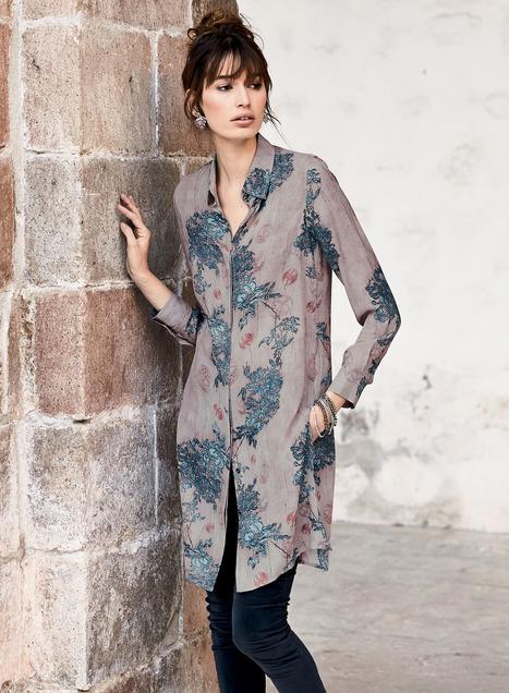 Sayuri Silk Tunics, Women's Tunics, Long Sleeve Silk Shirts .