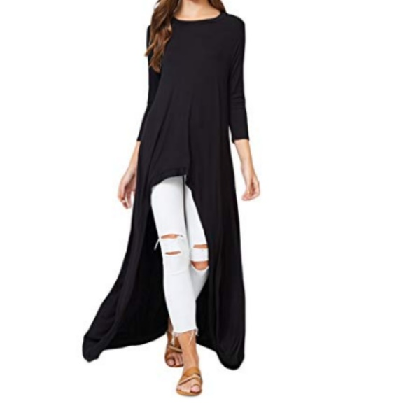 Sweaters | Annabelle Casual Long Maxi Tunic Tops | Poshma