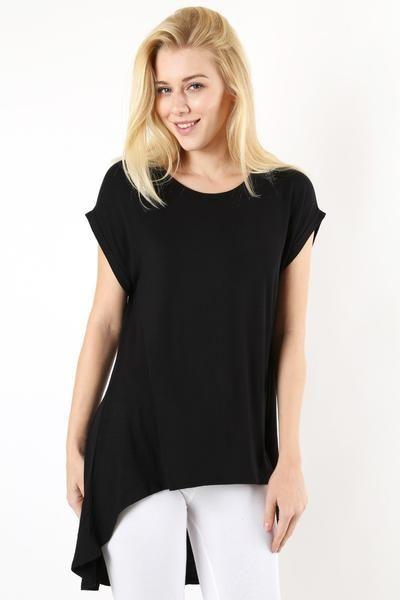 Women's Black Tunic Top | Tunic tops, Cute plus size clothes, Long .