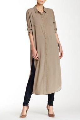 Cecico | Long Sleeve Split Side Maxi Tunic | Fashion, Boho fashion .