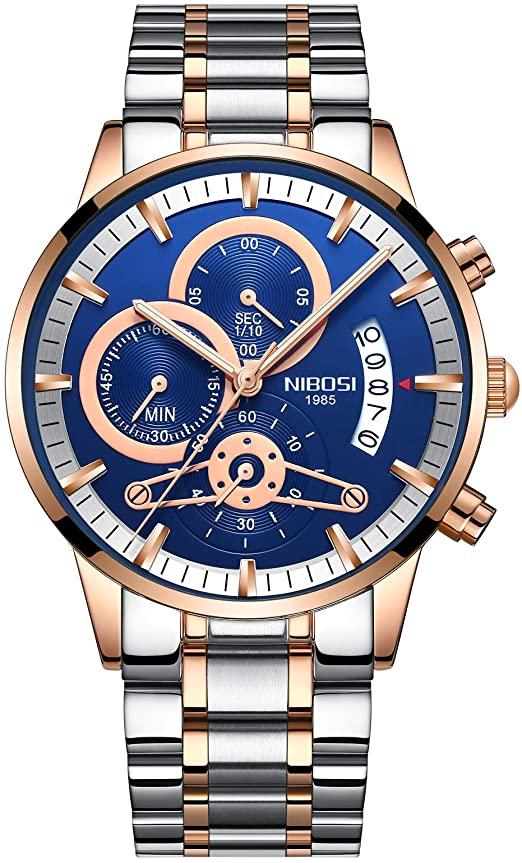 Amazon.com: Men's Luxury Watches Chronograph Water Resistant .