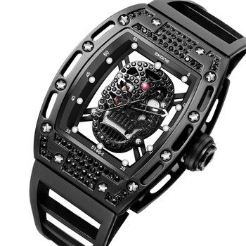Skone Custom Logo Wrist Watch Square Case Rubber Band Luxury .